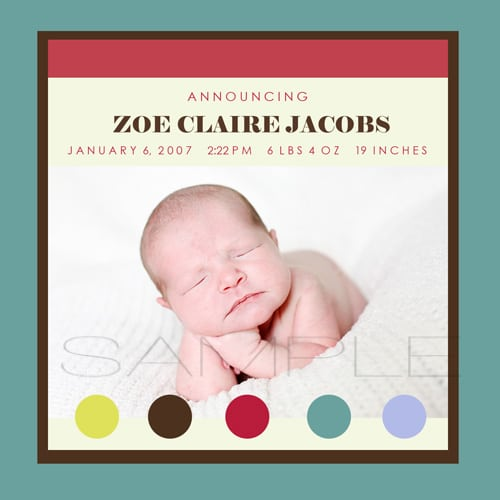 Birth Announcements Colorado Springs Newborn Photographer – Colorado Springs Birth Announcements