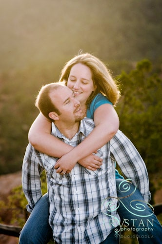 Engagement portraits at the garden of the gods in Colorado Springs.