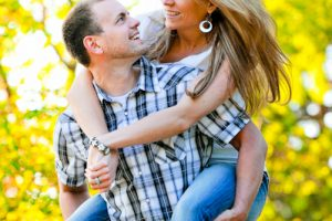 Lindsey and Wayne's Engagement Session at Monument Valley Park