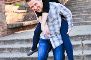 Christy and Alex's Engagement Session in Manitou Springs
