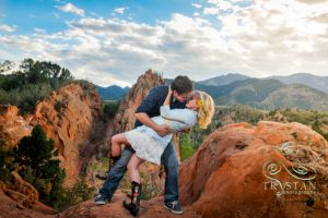 Heather and Jeremy's Loving Engagement Session at Red Rock Canyon Open Space in Colorado Springs