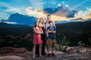Family Portraits at The Garden of The Gods: The Racine Family