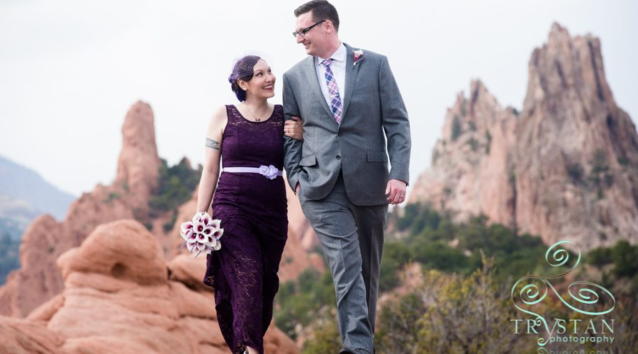 Cressy and Brandon's Elopement Portraits at The Garden of the Gods