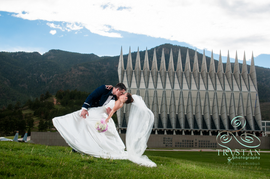 Amy and Luke's perfect wedding at The USAFA Cadet Chapel