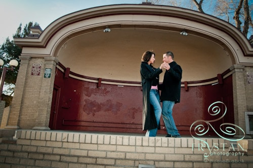 Jennifer and Landon's Downtown Colorado Springs Engagement Session