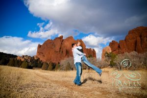 Lisa and Chris' Engagement Session at The Garden of the Gods
